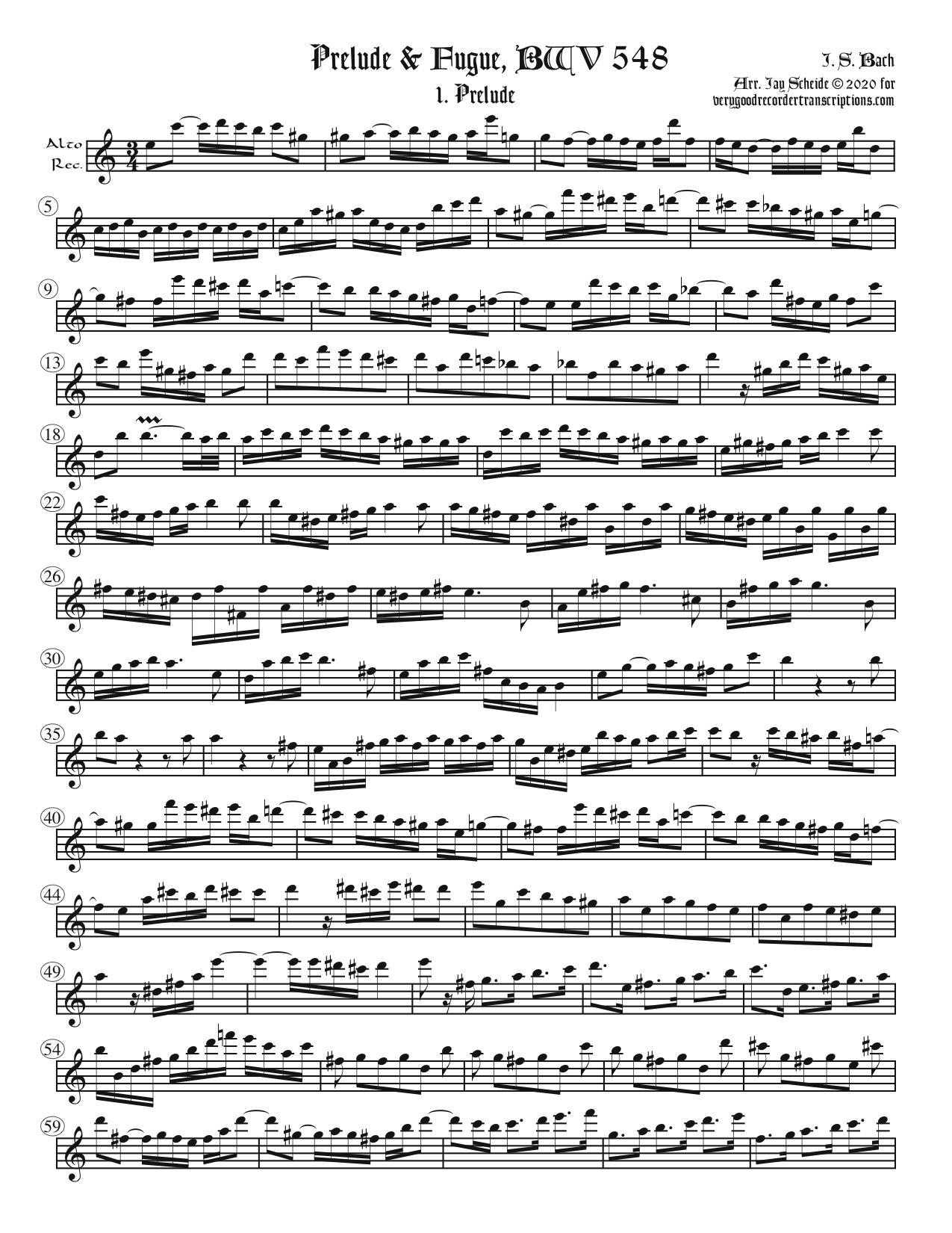 "Prelude & Fugue, BWV 548 (""Wedge"")"