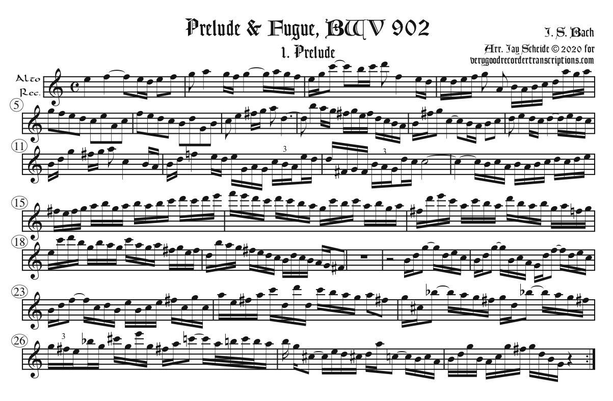 Prelude from BWV 902