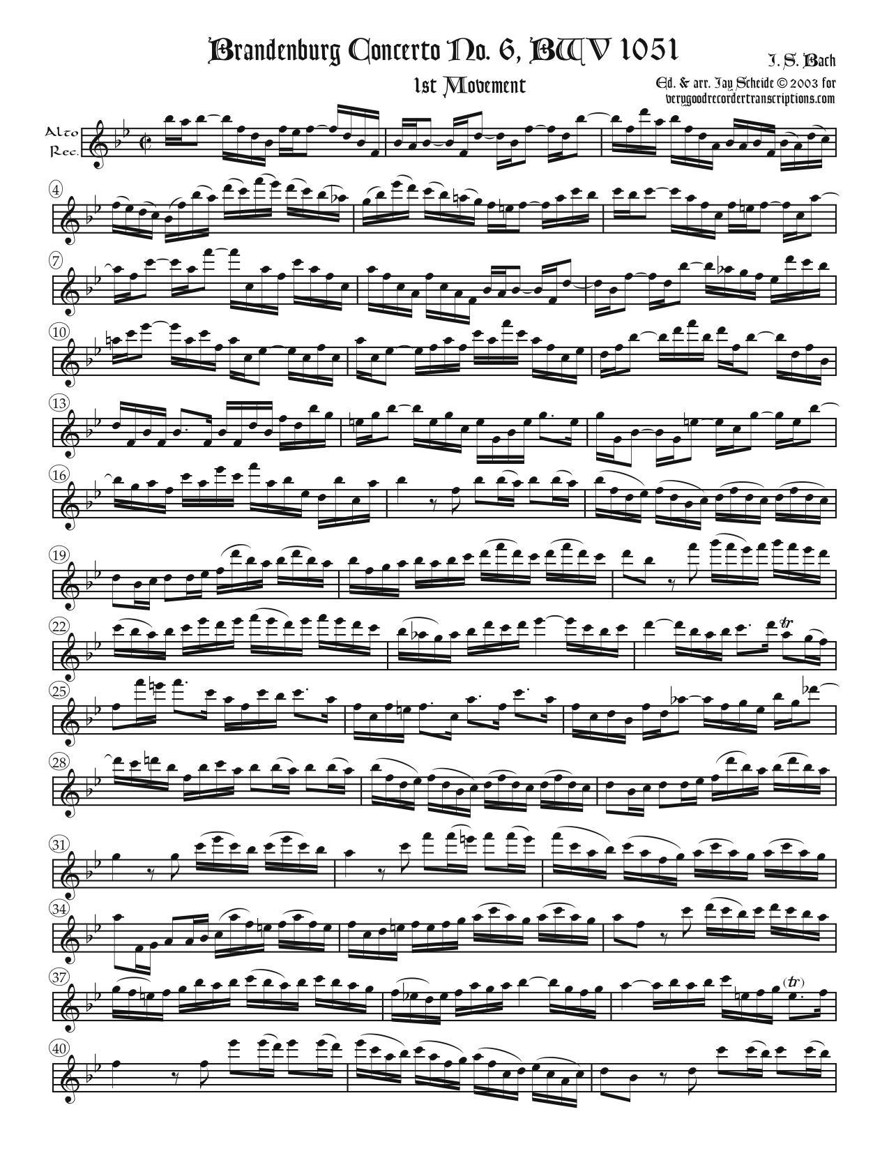 Brandenburg Concerto No. 6 complete